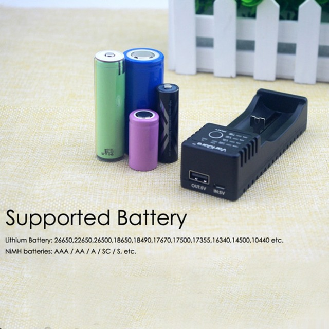 V10 Intelligent Battery Charger For AA AAA A SC S Li-ion Li-Fe NiHM 18650 Charger US Plug 500mA 1000mA Charging
