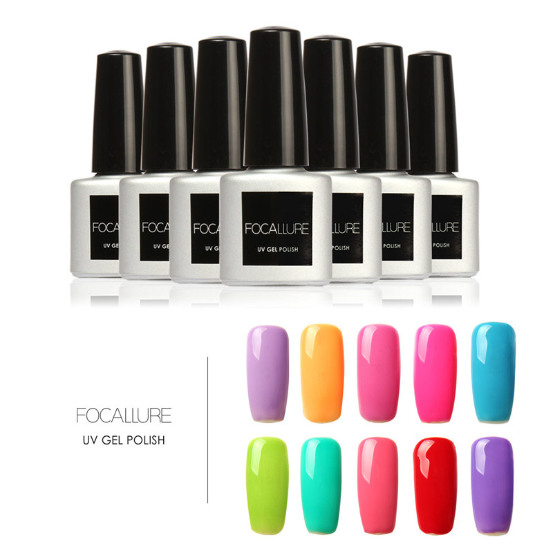 FOCALLURE 7ML Gel Nail Polish Soak Off Nail Polish Nail