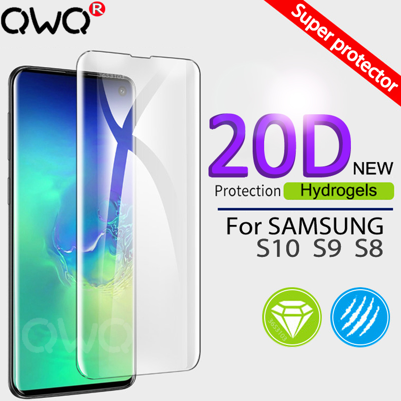 20D Hydrogel Film For Samsung Galaxy S10 S9 S8 Plus Note 9 8 A50 S10e + Full Curved Screen Protector For Samsung A7 2018 A20 A30 smartphone