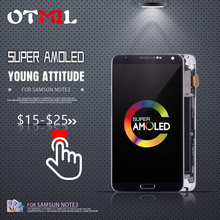 OTMIL 5.7 AMOLED For SAMSUNG Galaxy Note3 LCD Touch Screen withFrame For SAMSUNG Note 3 Display N9000 N900A N9005 N9006 LCD #1 newtop toughened glass screen protector for samsung galaxy note 3 n9000 n9005 transparent