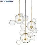 Modern Glass Bubbles Shade Pendant Light Designer Living Room Lamp Creative Glass Bubbles Lamp For Dinning
