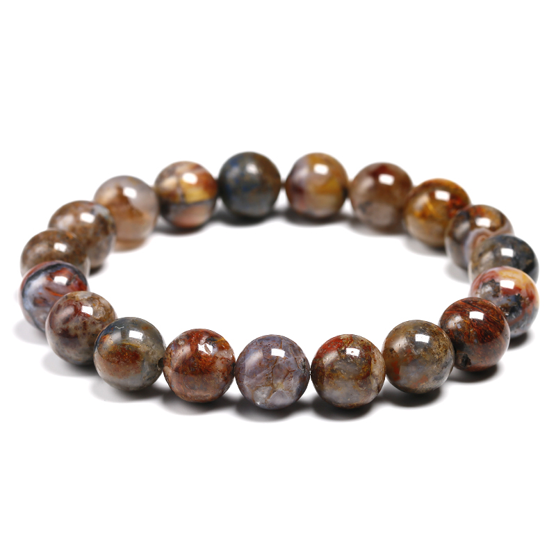 Natural Pietersite Stone Round 6MM 8MM 10MM Bracelet For Women Men Unisex Bangle Meditation Energy Agate Jewelry Couples GiftNatural Pietersite Stone Round 6MM 8MM 10MM Bracelet For Women Men Unisex Bangle Meditation Energy Agate Jewelry Couples Gift