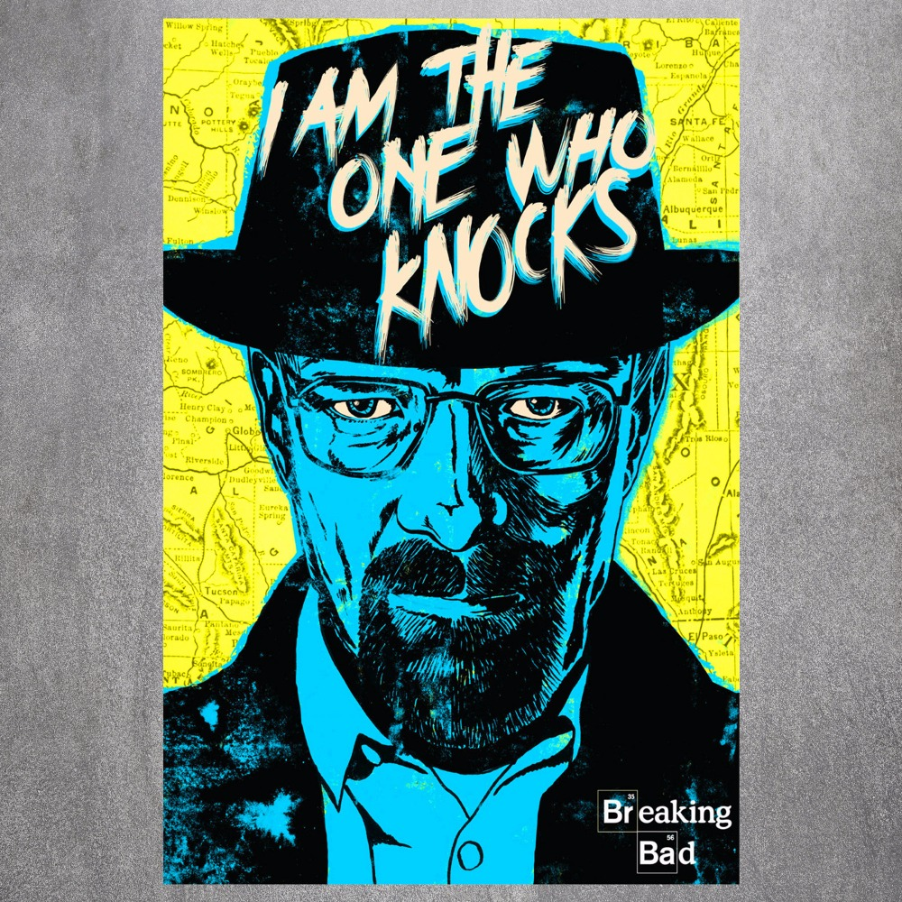 Online get cheap wall poster breaking bad aliexpress breaking bad knocks canvas art print painting poster wall picture for living room home decorative bedroom decor no frame jeuxipadfo Choice Image