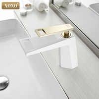 XOXO bassin robinet noir cascade salle de bain robinet froid et chaud mitigeur salle de bain robinet mélangeur eau 80015A