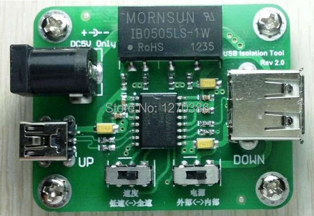 Free Shipping!!!  USB isolation board magnetic isolation ADUM4160 USB protection board evaluation board module isolation