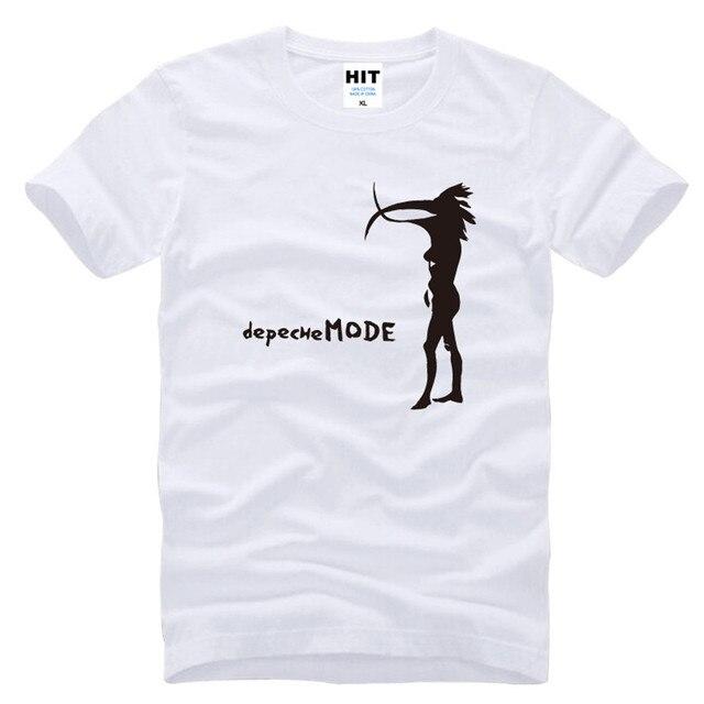 Depeche Mode Альтернативной Танцевальной музыки Мужская Мужчины Футболка Футболка Мода 2016 Новый Коротким Рукавом О Шеи Хлопок Футболки Tee