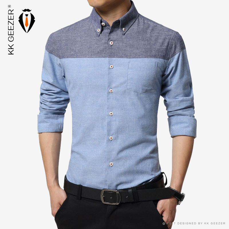 Fashion brand men dress shirts long sleeve 100 cotton for Mens formal white shirts