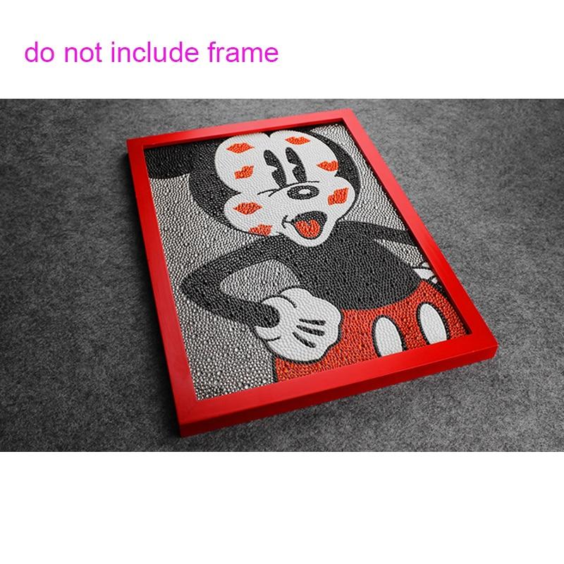 Diy 5D Diamond Painting Mickey Mouse Painting Full Broderi 3 - Konst, hantverk och sömnad - Foto 2
