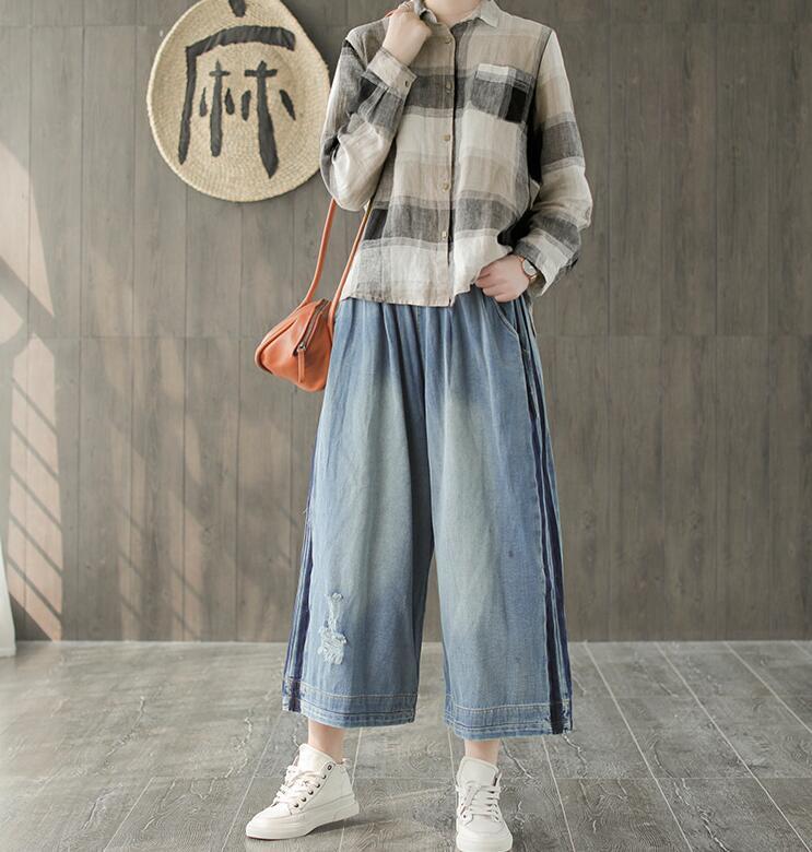 683aadce615 Denim-Mujer-agujero-ancho-de-la-pierna-pantalones-2019-nuevo-tama-o-grande- de-verano-Original.jpg