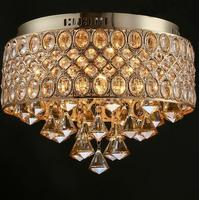 T Modern Creative Gold crystal Lights Ceiling lamp Simple LED Lamp for Sitting Room Bedroom the Bar Restaurant Coffee Shop