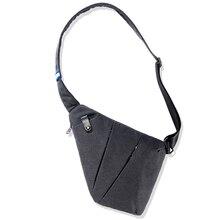 مكافحة سرقة واحد الكتف الصدر أكياس رجل عادي متعددة الوظائف الصغيرة موضة الرافعة عادية قماش حقائب كروسبودي الذكور
