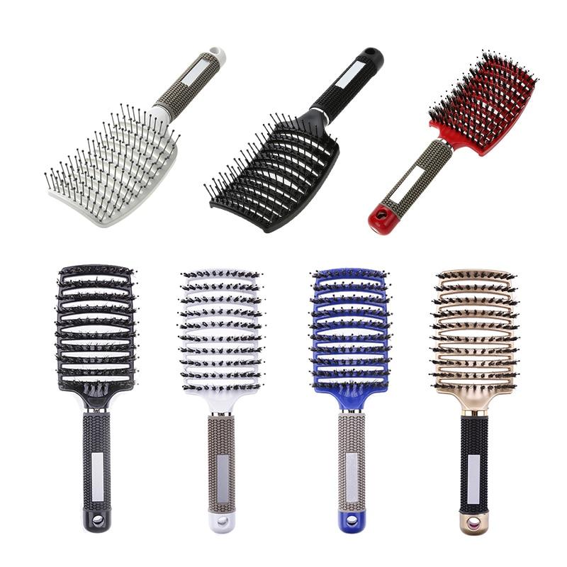 Hair Scalp Massage Comb Hairbrush Bristle Nylon Women Wet Curly Detangle Hair Brush For Salon Hairdressing Styling Tools Hot