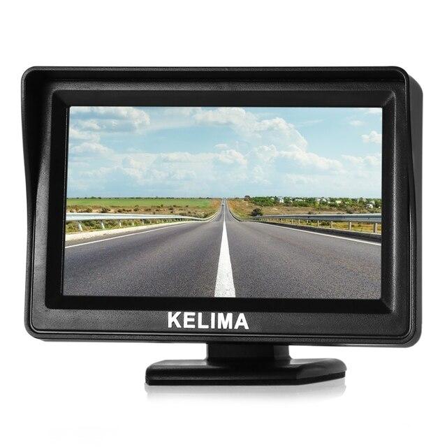 Kelima Универсальный 4.3 дюймов заднего вида автомобиля Дисплей TFT Экран Мониторы AV1 и AV2 двусторонней входы Поддержка NTSC PAL