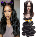 360 Lace Frontal Closure With Bundle Malaysian Body Wave Human Hair Weave 3 Bundles With Closure Ali Moda Malaysian Virgin Hair