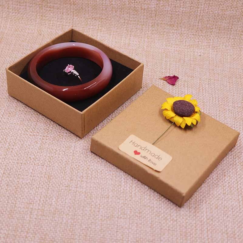 12pcs Bangle Box Necklace/Bracelt Box Jewelry Display Gift Box 9X9X3CM With 2Kind Of Flo ...