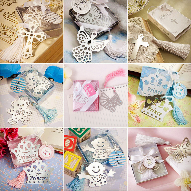 Creative Stainless Steel Bookmarks Angel Wedding Guests Party Gift Tassel Favors Thanksgiving Christmas Birthday Gift For Kids