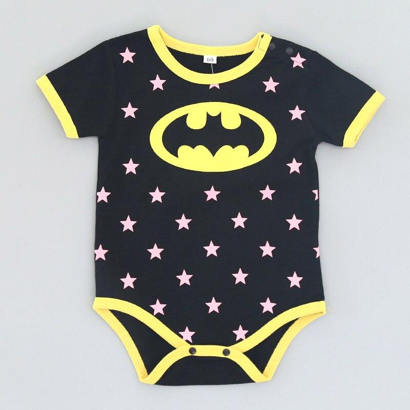 HTB11QtJD21TBuNjy0Fjq6yjyXXas 2018 Summer Newborn Baby Girl Clothes Cartoon Baby Boy Rompers Spiderman Batman Unisex Baby Rompers Cartoon Animal Clothing Set