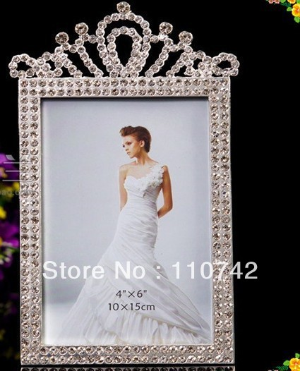 wholesale 10pcslot 4x6 inches zinc alloy rhinestone picture frame diamond photo frame