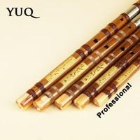 YUQUE Traditional Professional Bamboo Flute Woodwind dizi Musical instruments C D E F G Key Chinese dizi Transversal Flauta Xiao