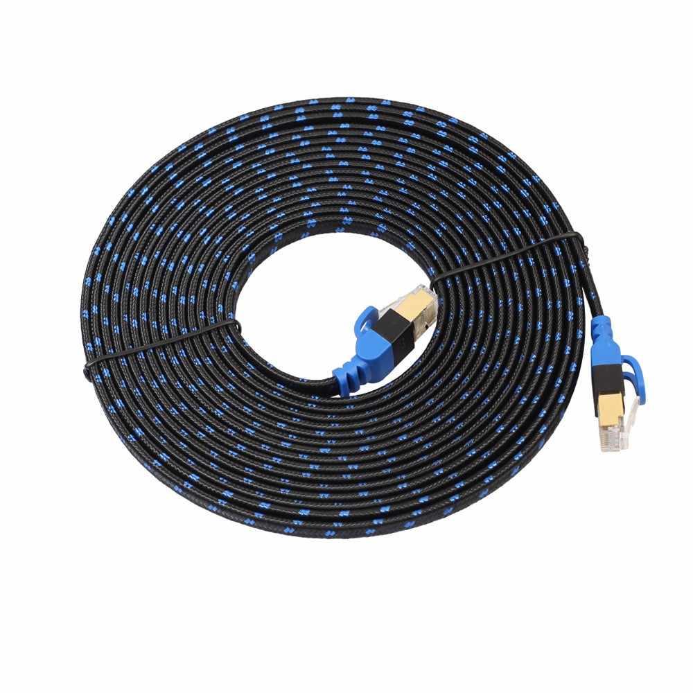 2018 חדש Ethernet כבל צמת CAT7 10 Gigabit Ethernet אולטרה שטוח תיקון כבל עבור מודם נתב