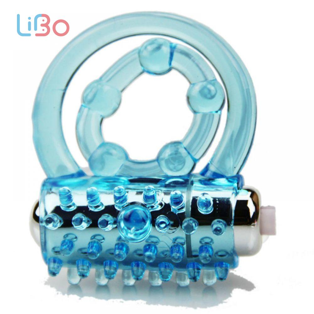 Buy LI BO Blue color Two rings Vibrators cockring Collars Delay Premature Ejaculation Lock Fine Sex Toys product Men