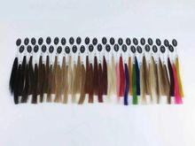 40 цвета ручной цвет волос кольцо для всех видов наращивание волос цветовая схема для лента, Совет наращивание волос