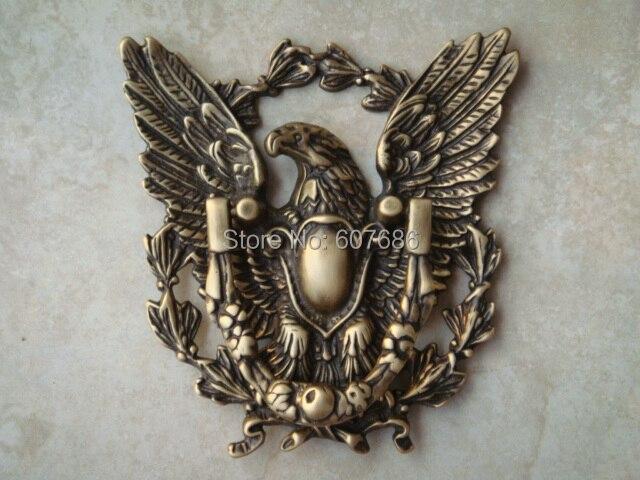 1 Piece Antique Brass Eagle Ring Pull Door Pulls Door Knockers Metal  Handcrafted Latch With Semi