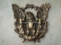 1 Piece Antique Brass Eagle Ring Pull Door Pulls Door Knockers Metal Handcrafted Latch with Semi Circular Handle Free Shipping