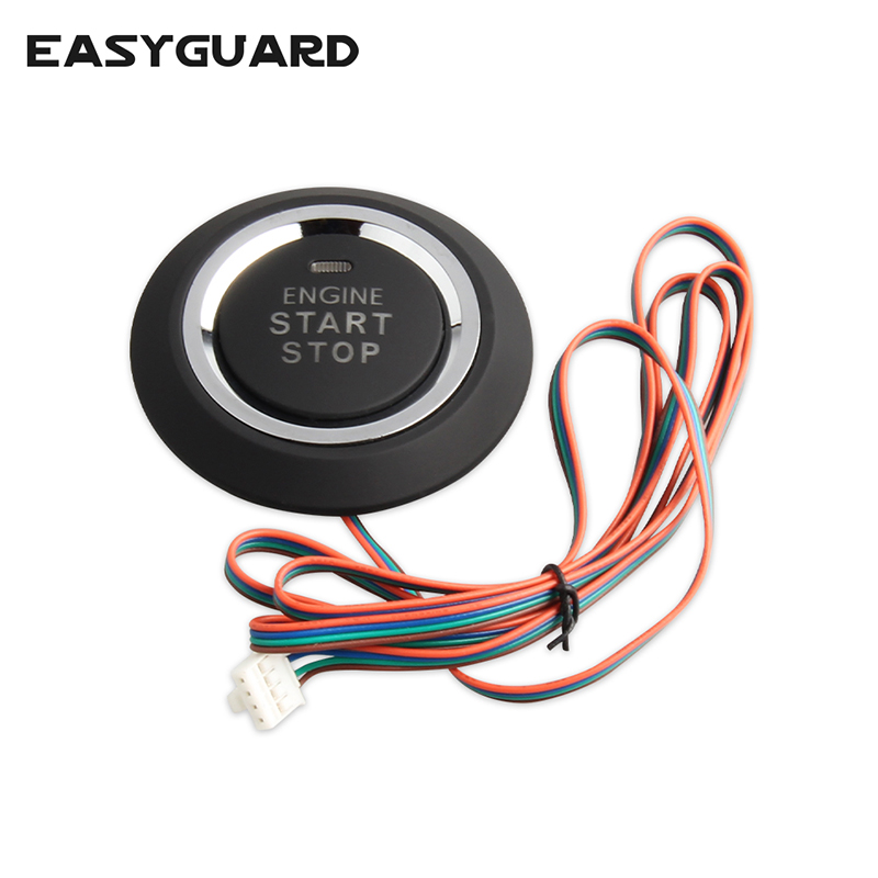 EASYGUARD Replacement Push Engine Start Stop Button For Ec002 Es002 Ec008 Series P1 Style