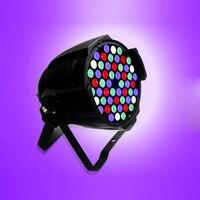 Wireless High Power 3W*54 RGBW LED Double Yokes Par 64 LED Stage Light DMX 512 for DJ Control Party KTV Flashlight