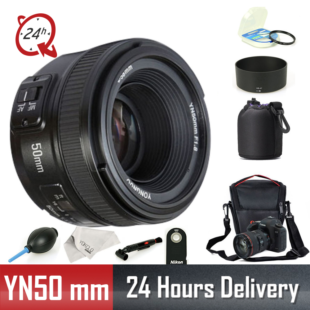 D'origine YONGNUO Lentille YN50 mm YN50mm F1.8 Camera Lens pour Canon Nikon DSLR Camera Lens