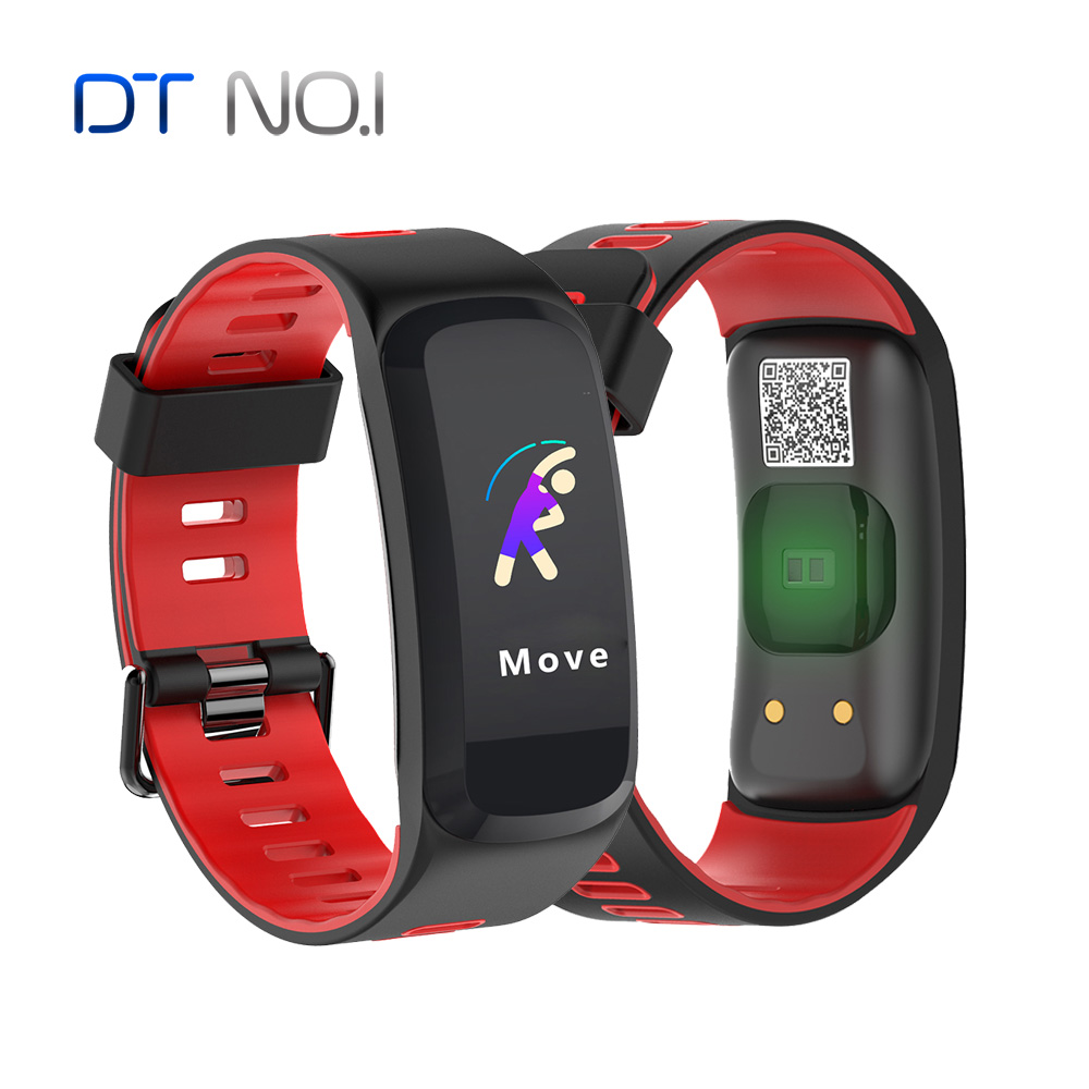 No 1 F4 PRO Color Screen IP68 Smart Band Blood Pressure Oxygen Heart Rate Health Tracker
