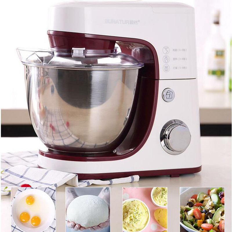 220V Multifunctional Electric Dough Mixer Household Automatic Food Mixer Blender Egg Cream Fruit Mixer EU/AU/UK/US Kitchen Stand
