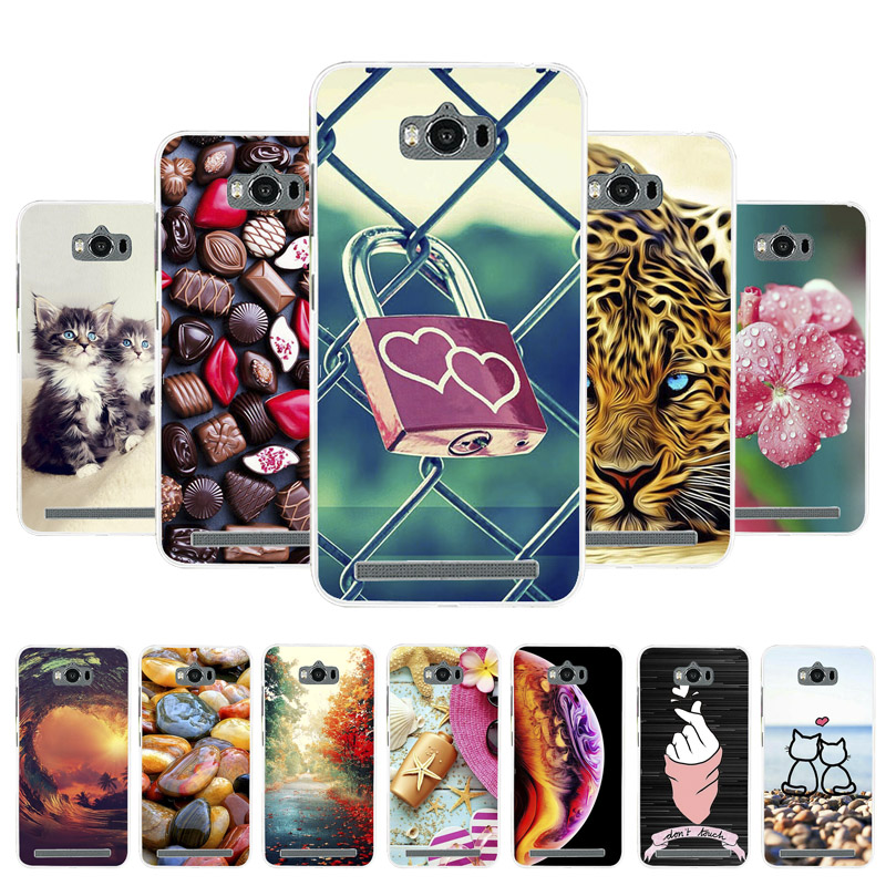 3D DIY Soft Silicone Case For <font><b>Asus</b></font> Zenfone Max Case Coque For <font><b>Asus</b></font> Zenfone Max ZC550KL Cover Painted Cases Cover Fundas Housing image