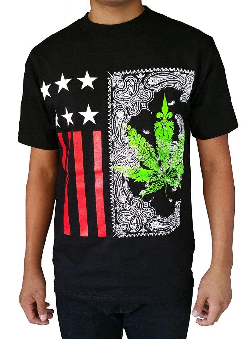 Design t shirt online usa - 2017 New Arrivals New Men 39 S Printed Weed Marijuana Usa Graphic Design T