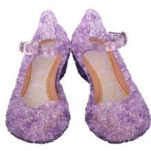 Обувь на танкетке для маленьких девочек; вечерние туфли для костюмированной вечеринки; обувь для принцессы сандалии; вечерние туфли для девочек