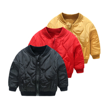fashion Baby Boy thick zipper outwear Toddler Kids quilted jacket