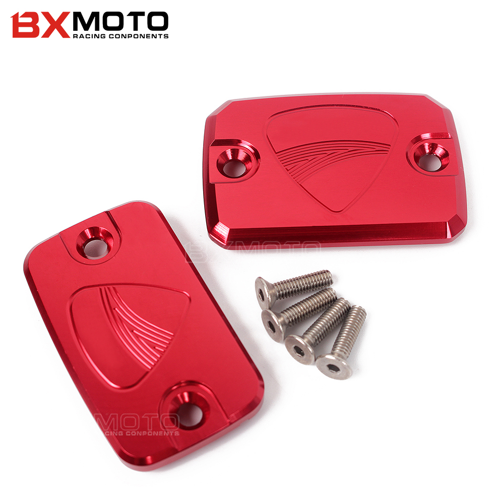 CNC Front Clutch Brake Fluid Reservoir Cover Cap For DUCATI Monster 695 696 796 Hypermotard 796 Motorcycle accessories protector universal motorcycle brake fluid reservoir clutch tank oil fluid cup for mt 09 grips yamaha fz1 kawasaki z1000 honda steed bone