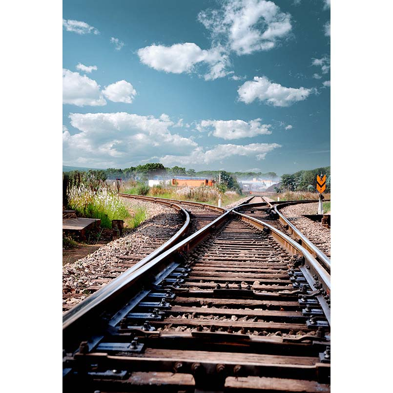 S-3038 Blue Sky Country Railway Wedding Baby Newborn Child Photo Background Photography Backdrops