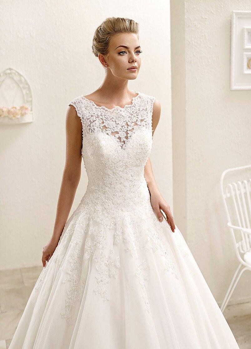online shop 2015 chapel train scoop neck ball gown wedding dress long cap sleeve lace wedding ball gowns new arrival button sleeveless f1831 aliexpress