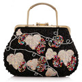 Luxury Rhinestone Ladies Clutch Handbag Sequins Women Evening Bag Bridal Wedding Party Purse Chain Bag Bead Bolsas Mujer XA1449C