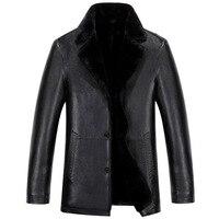 New Men S Coat Lapel Men Business Casual Leather Jacket Mens Fur Leather Jackets Winter Style