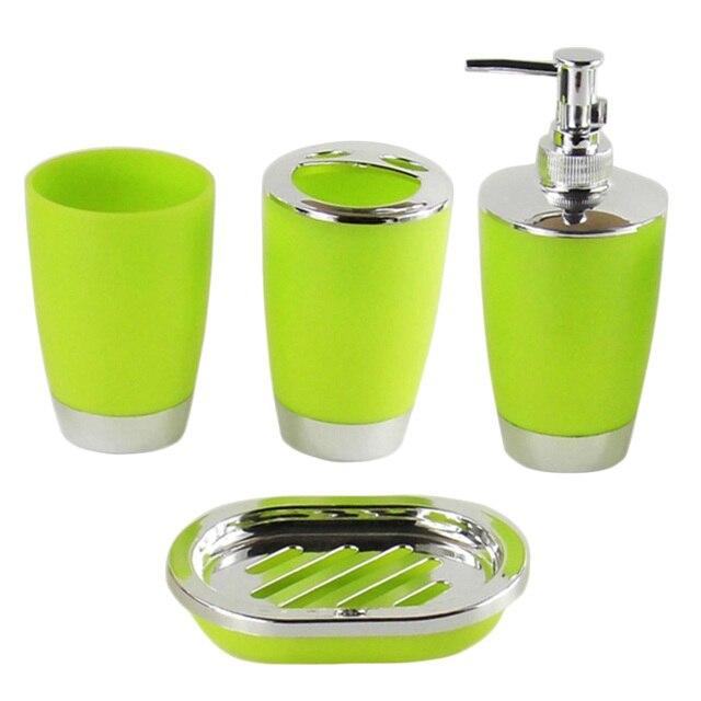 4 Pz/set Tuta Bagno di Plastica Premere Bottiglia di Shampoo Lavare Gargarismi T