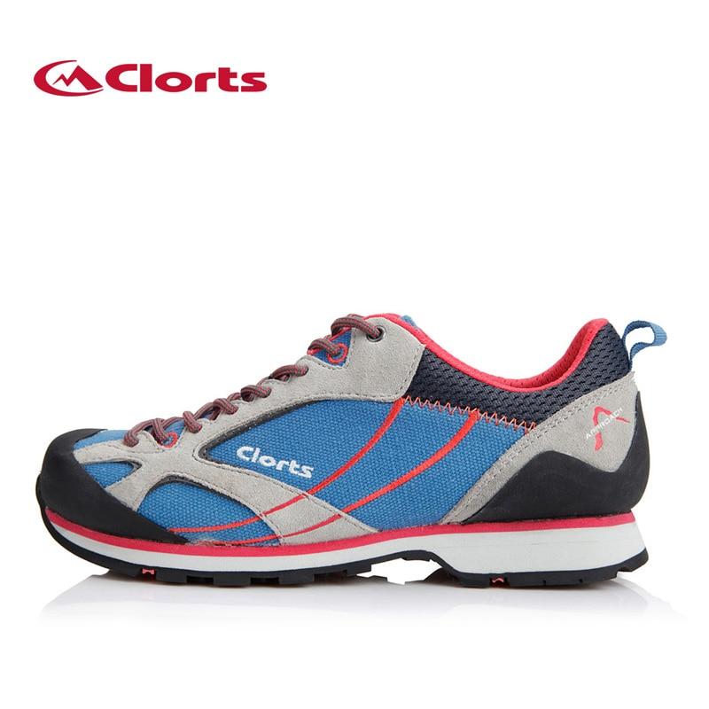 ФОТО Clorts Outdoor Approach Shoes Women Canvas Hiking Shoes Non-Slip Trekking Shoes Low-Cut Climbing Shoes 3E003C
