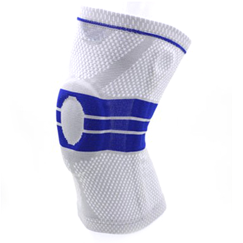 1PC Grey Elastic Knee Support Brace Kneepad Adjustable Patella Knee Pads Basketball Safety Guard Strap Protector Silica Gel