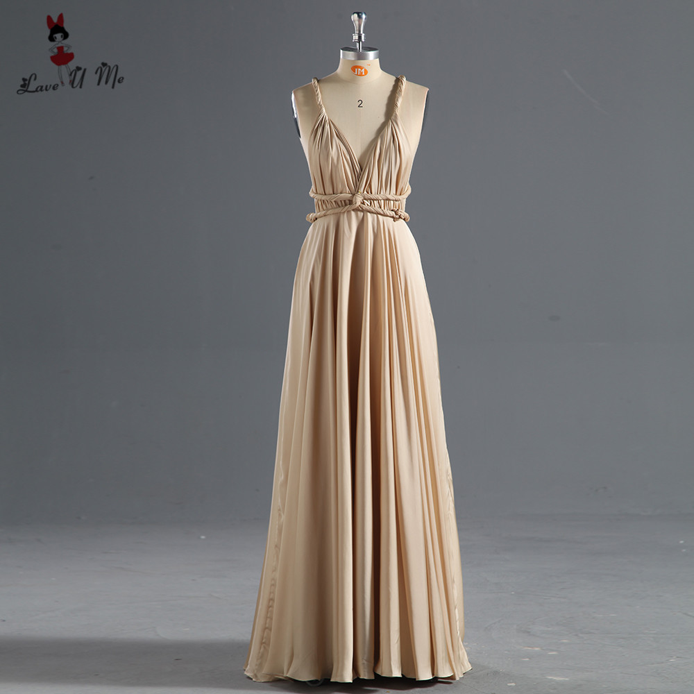 Sexy Champagne Bridesmaid Dresses 2018 Long Backless Wedding Guest Wear Vestidos De Madrinha Imported Party Dress Pageant Prom