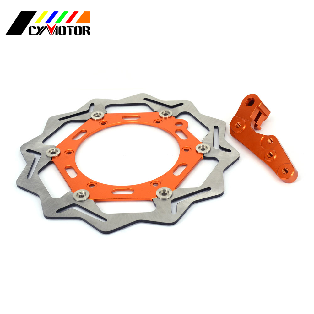 цена на 270MM Floating Brake Discs Rotor and Bracket For KTM EXC SX GS MX SXS MXC XCW XCF 125 144 200 250 300 350 380 400 450 500 520