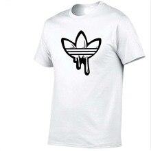 FIZLA Newest O neck short sleeves t shirt men Fashion doodle Print Cotton funny t