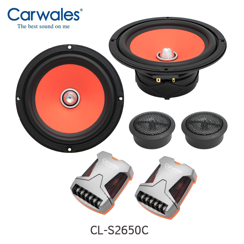 High Sound Quality 320W 6 5 inch Car Speaker Set with Dome Tweeter Speakers and Crossover