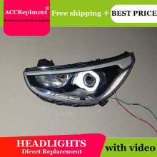 Car Styling For Hyundai Solaris headlights 2011-2013 Accent led headlight Verna turn signal drl H7 hid Bi-Xenon Lens low beam цена в Москве и Питере